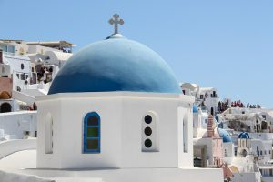 santorini, oia, church